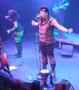I'm not blaming Captain Robert for my NaNo problems.  But if Abney Park hadn't been playing in Wichita, just 7 hours or so away... (Note: this picture is actually from their concert in Denver this fall.  Because of NaNoWriMo, I haven't gotten my pictures from Wichita uploaded yet.)